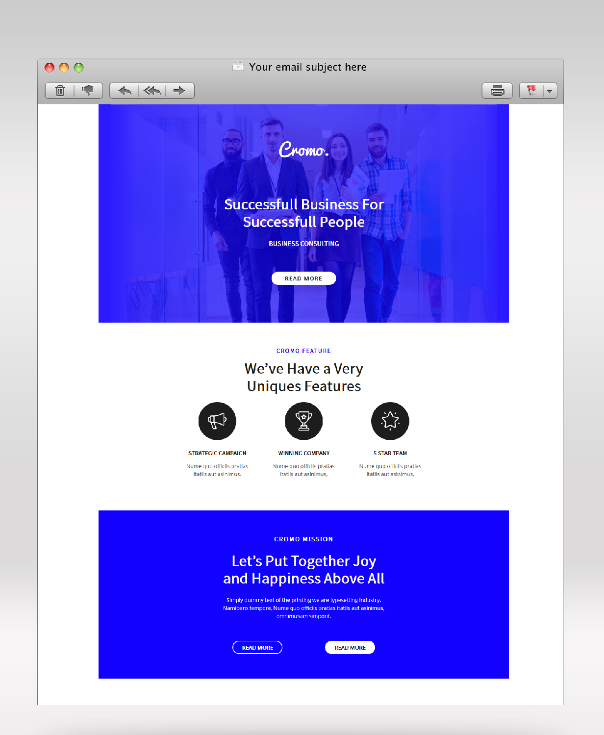 Cromo Corporate Email Newsletter Template - 1