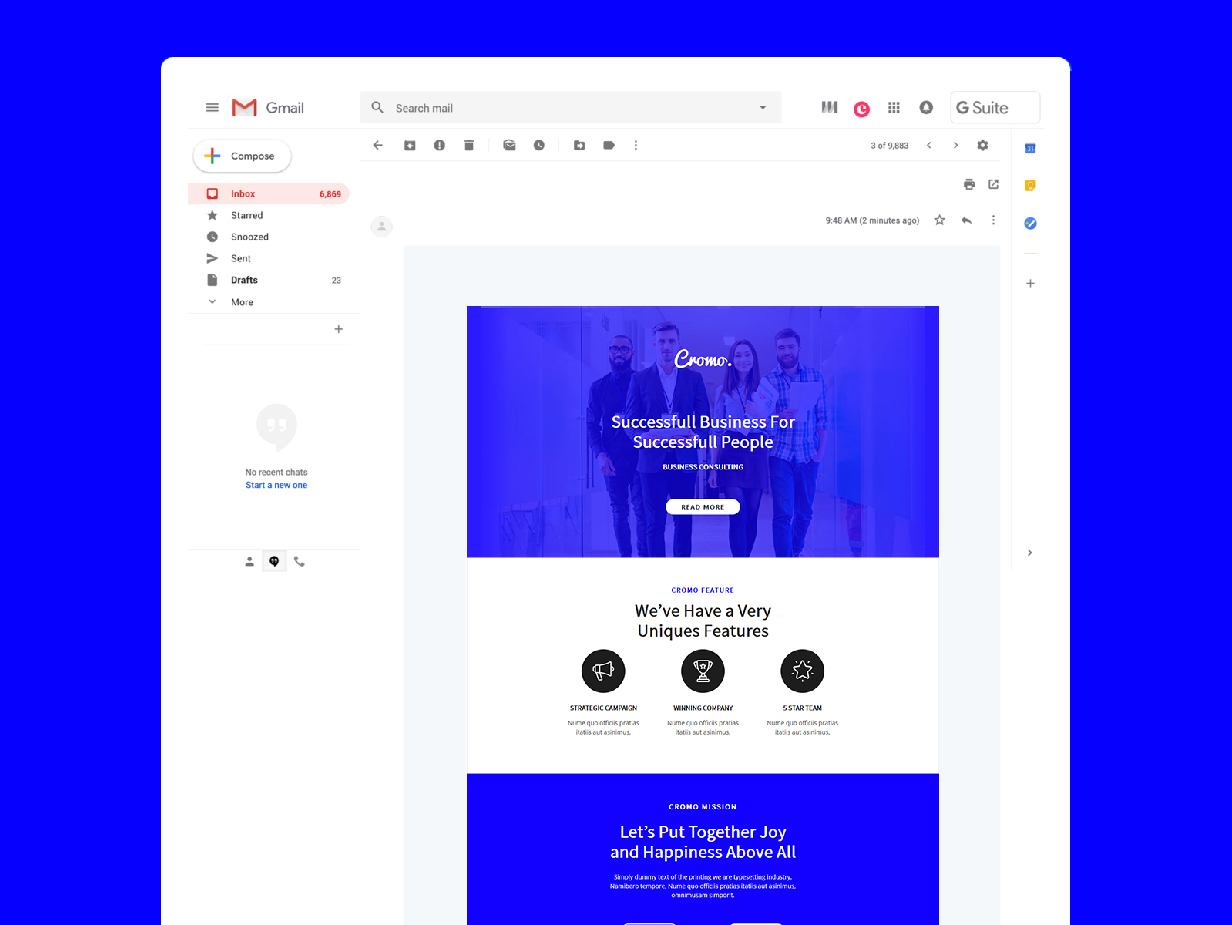 Cromo Corporate Email Newsletter Template - 3