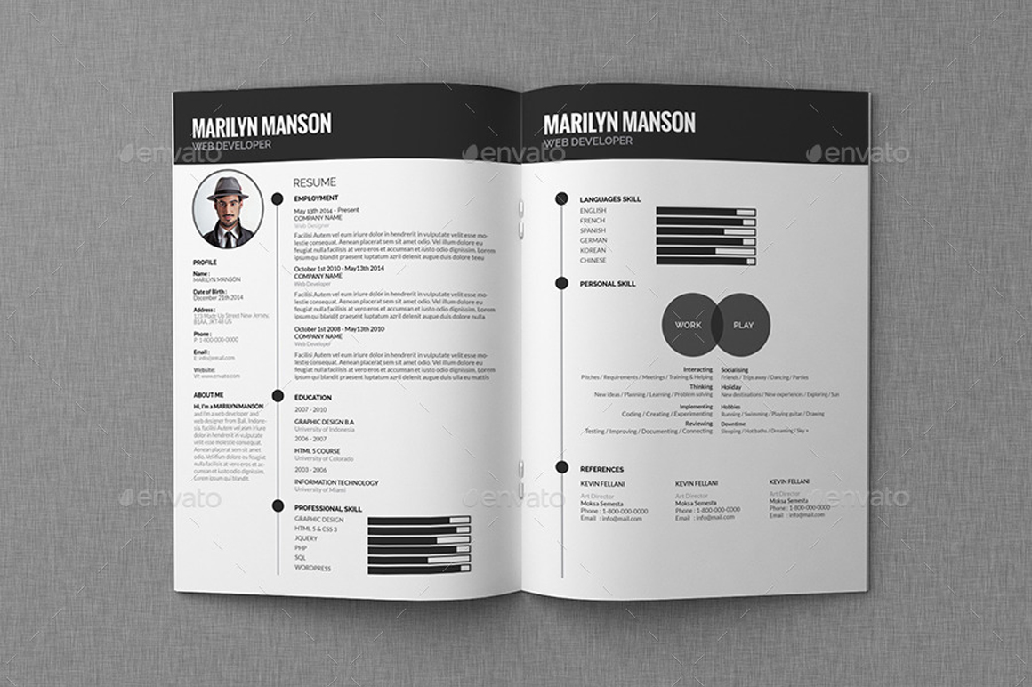 Resume Cv Portfolio Giant Design