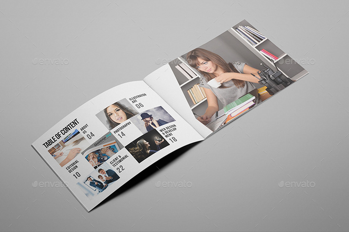 Giant design creative agency brochure for Interesting brochure designs