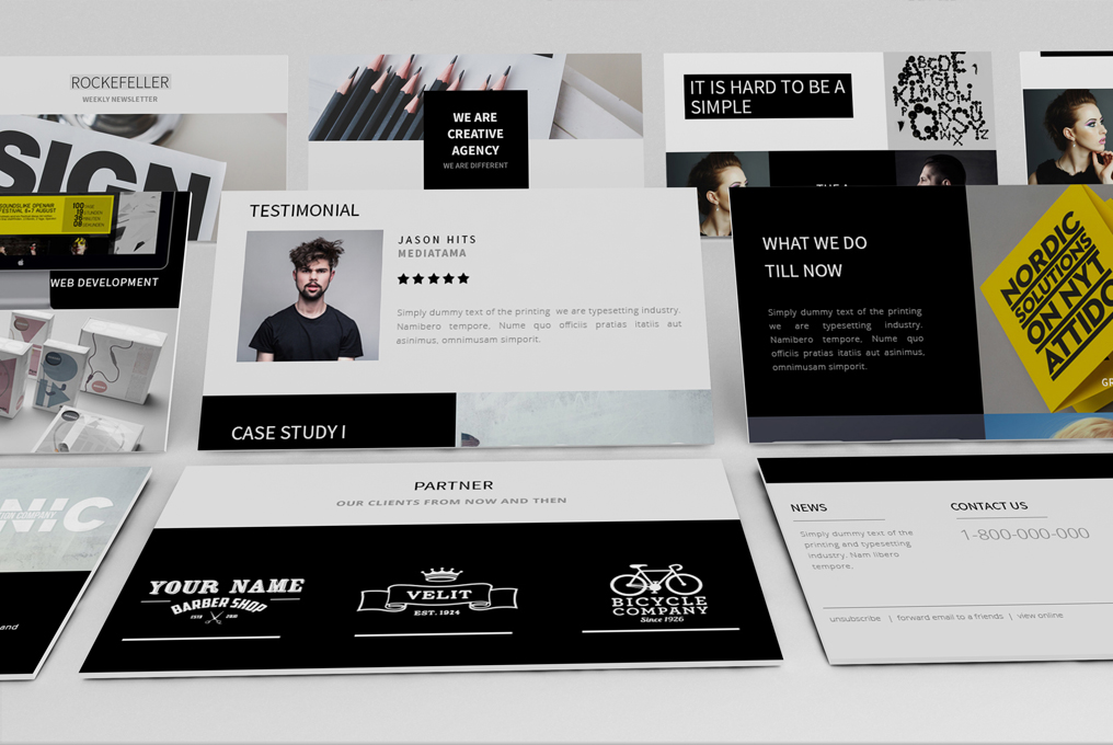 Rockefeller - Creative Agency Responsive Email Template - 3